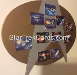 Star Trek The Voyagers Card Collection Porcelain Trading Card Display Board Alternate