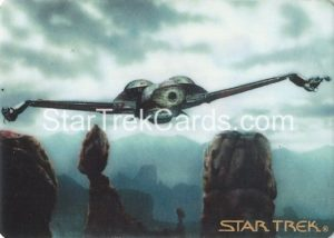 Star Trek The Voyagers Card Collection Trading Card Prototype Proof Klingon Bird of Prey