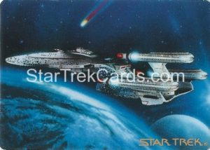 Star Trek The Voyagers Card Collection Trading Card Prototype Proof Triple Nacelled USS Enterprise