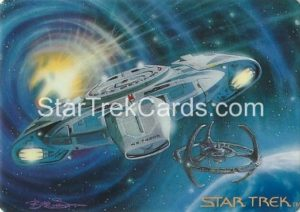 Star Trek The Voyagers Card Collection Trading Card Prototype Proof USS Defiant NX 74205