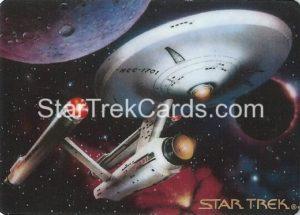 Star Trek The Voyagers Card Collection Trading Card Prototype Proof USS Enterprise NCC 1701