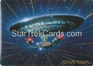 Star Trek The Voyagers Card Collection Trading Card Prototype Proof USS Enterprise NCC 1701 D