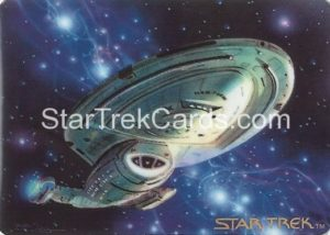 Star Trek The Voyagers Card Collection Trading Card Prototype Proof USS Voyager NCC 74656