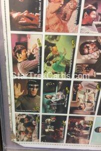 Star Trek Topps 1976 Uncut Trading Card Sheet Alternate