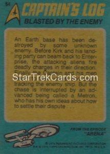Star Trek Topps O Pee Chee Trading Card 54 Back