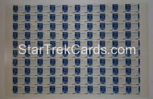 Star Trek Video Cards 1993 Trading Card Uncut Sheet Back