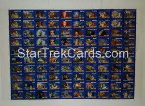 Star Trek Video Cards 1993 Trading Card Uncut Sheet Front
