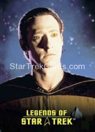The Legends of Star Trek Trading Cards Lieutenant Commander Data L1