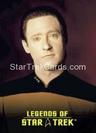 The Legends of Star Trek Trading Cards Lieutenant Commander Data L2