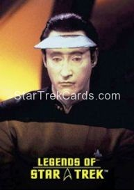 The Legends of Star Trek Trading Cards Lieutenant Commander Data L6
