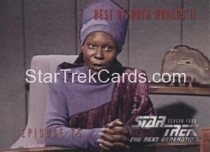 Star Trek The Next Generation Season Four Trading Card 323