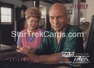 Star Trek The Next Generation Season Four Trading Card 332