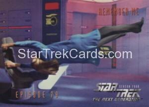 Star Trek The Next Generation Season Four Trading Card 335
