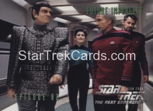 Star Trek The Next Generation Season Four Trading Card 344