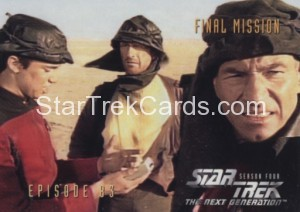 Star Trek The Next Generation Season Four Trading Card 346