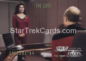 Star Trek The Next Generation Season Four Trading Card 350
