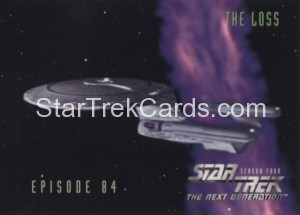 Star Trek The Next Generation Season Four Trading Card 351