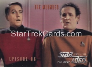Star Trek The Next Generation Season Four Trading Card 357
