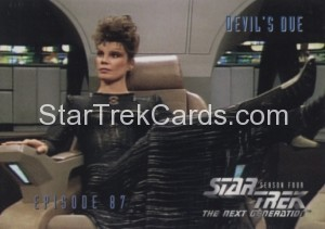 Star Trek The Next Generation Season Four Trading Card 358