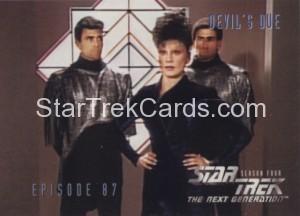 Star Trek The Next Generation Season Four Trading Card 360