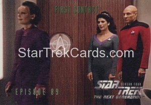 Star Trek The Next Generation Season Four Trading Card 364