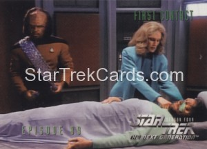 Star Trek The Next Generation Season Four Trading Card 366