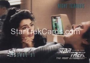 Star Trek The Next Generation Season Four Trading Card 370