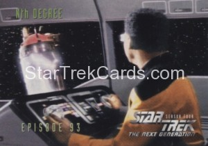 Star Trek The Next Generation Season Four Trading Card 376