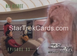 Star Trek The Next Generation Season Four Trading Card 378