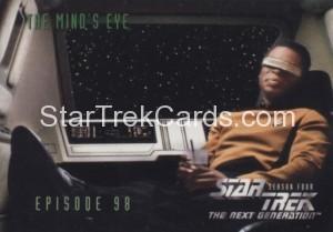 Star Trek The Next Generation Season Four Trading Card 391