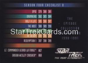 Star Trek The Next Generation Season Four Trading Card 401