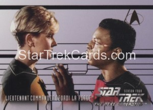 Star Trek The Next Generation Season Four Trading Card 404