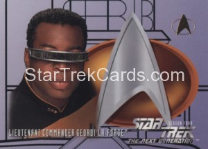 Star Trek The Next Generation Season Four Trading Card 407