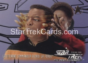 Star Trek The Next Generation Season Four Trading Card 410