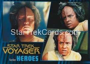 Star Trek Voyager Heroes Villains Card0491