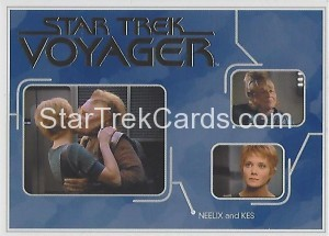 Star Trek Voyager Heroes Villains Trading Card R4