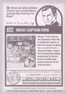 Mego Museum Card 39 Back