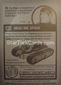 Mego Museum Card 40 Back