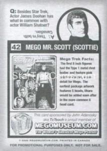 Mego Museum Card 42 Back