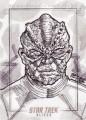 Star Trek Aliens Bien Flores Sketch Card