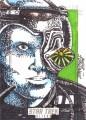Star Trek Aliens Dan Borgones Sketch Card