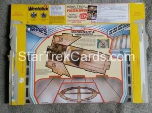Star Trek The Motion Picture Weetabix Box Vulcan Shuttle Back