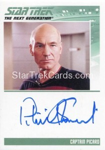 Star Trek The Next Generation Heroes Villains Autograph Patrick Stewart