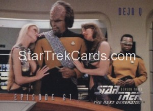 Star Trek The Next Generation Season Three Trading Card 270