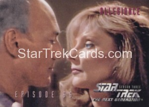 Star Trek The Next Generation Season Three Trading Card 284