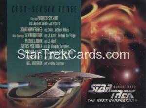 Star Trek The Next Generation Season Three Trading Card 312