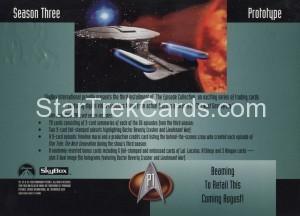 Star Trek The Next Generation Season Three Trading Card P1 Back