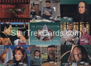 Star Trek The Next Generation Season Three Trading Card P1 Front