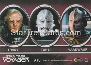 Star Trek Voyager Heroes Villains Aliens A10 Back