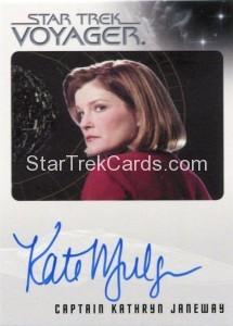 Star Trek Voyager Heroes Villains Autograph Kate Mulgrew Front